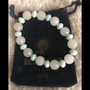 Jewelry - NWOT beaded bracelet with clear mint green beads